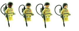 4 Ghostbuster - Custom Designed Minifigures